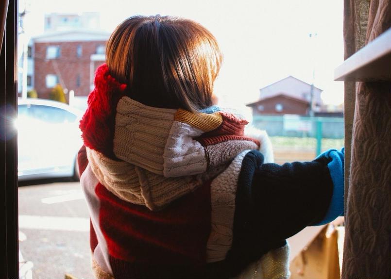色に抱かれた彼女のスヌード 2017年冬製