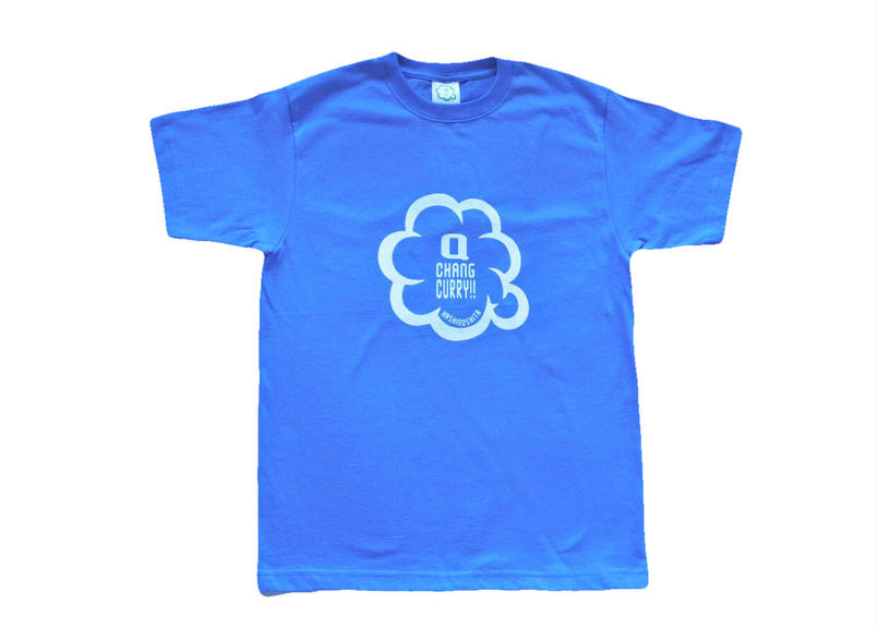キューチャンカレーteeシャツ(ブルー)