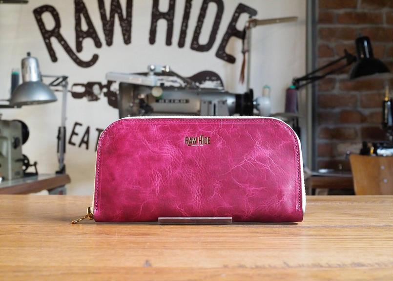 Berry pink Zip wallet