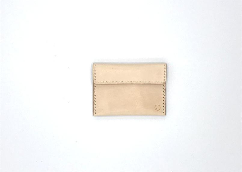 ホックタイプコインケース/小銭入れ ヌメ革:ナチュラル【選べるステッチカラー】(r004)