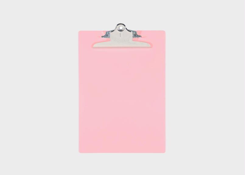 プラスチック(A4サイズ クリップボード) - ピンク