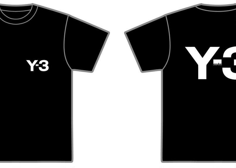 『Y-3 ※ヨースケサンTシャツ』※画像は黒Tシャツ、白ロゴ
