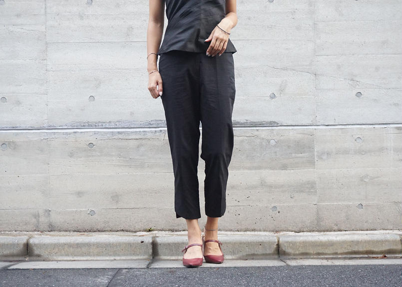 SIDE CUT ANKLE PANTS
