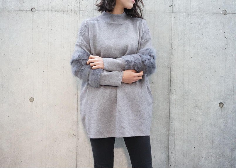 ARM FUR DESIGN KNIT