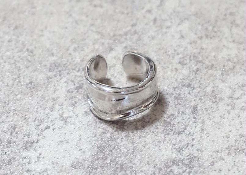 wide bone silver ring