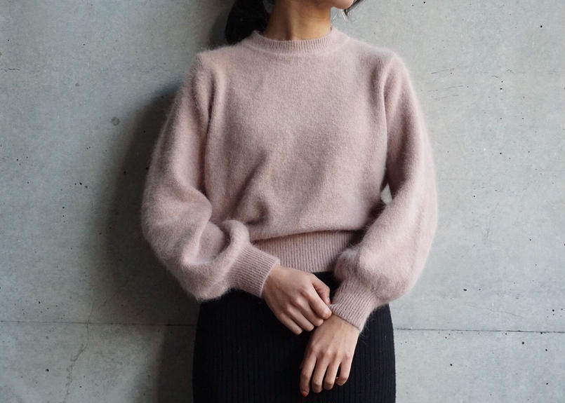 ANGORA BALLOON SLEEVE KNIT