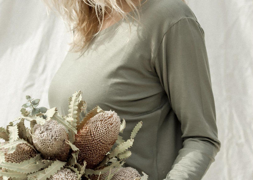 Eucalyptus Daya Long Sleeve Top Sage(トップス)