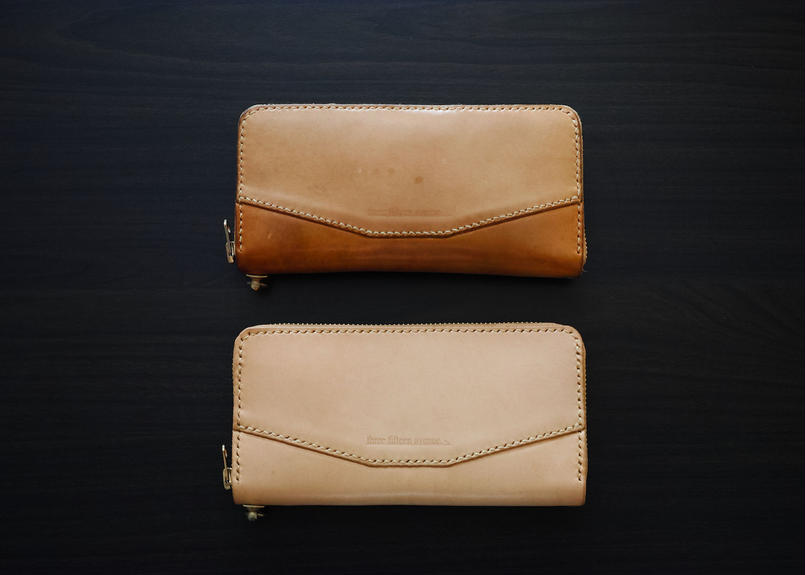 hourglass long wallet -round zip type-