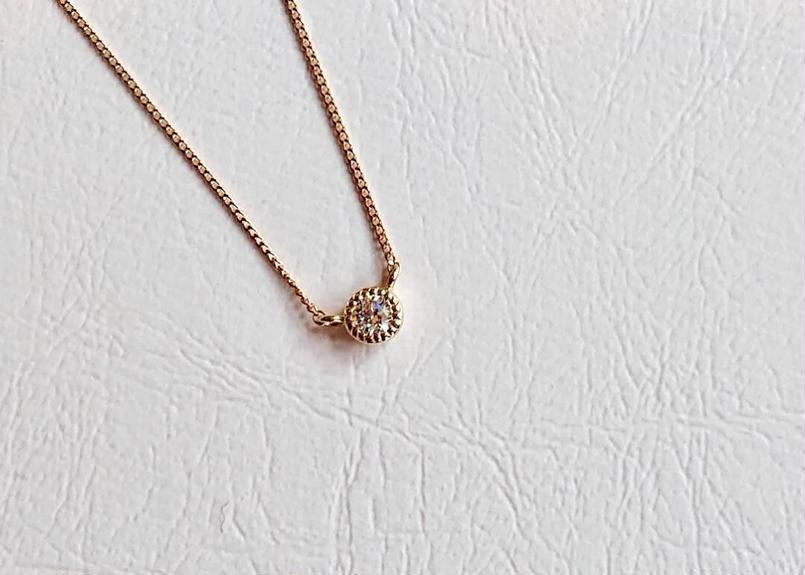 K18 Twinkle ダイヤプチネックレス