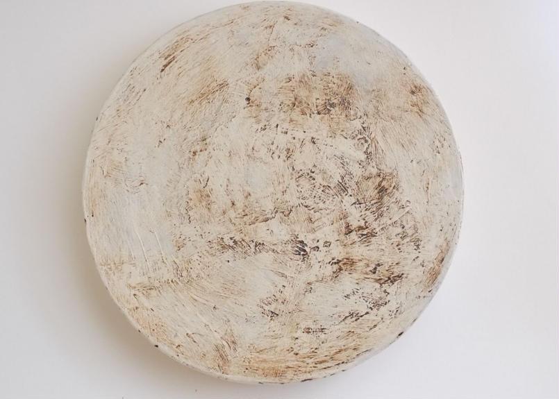 白化粧高台皿リバーシブル7寸
