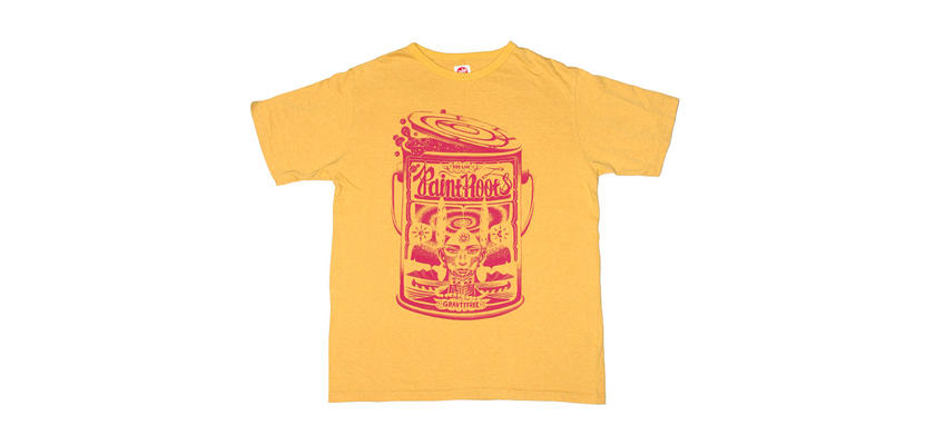 PAINT ROOTS T-SHIRTS -Mustard yellow-