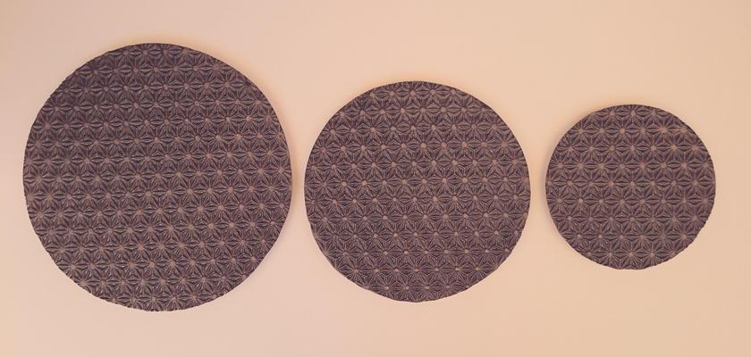 麻模様の陶板 S