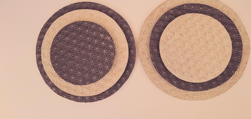 麻模様の陶板 M