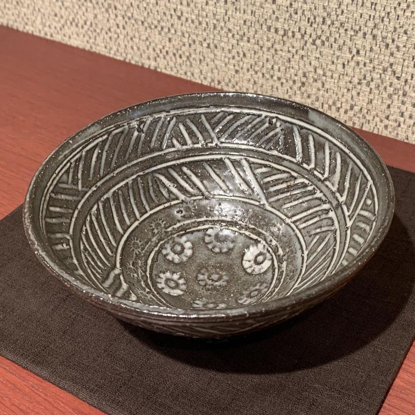 彫三嶋茶碗(須田祥豊)/ s1