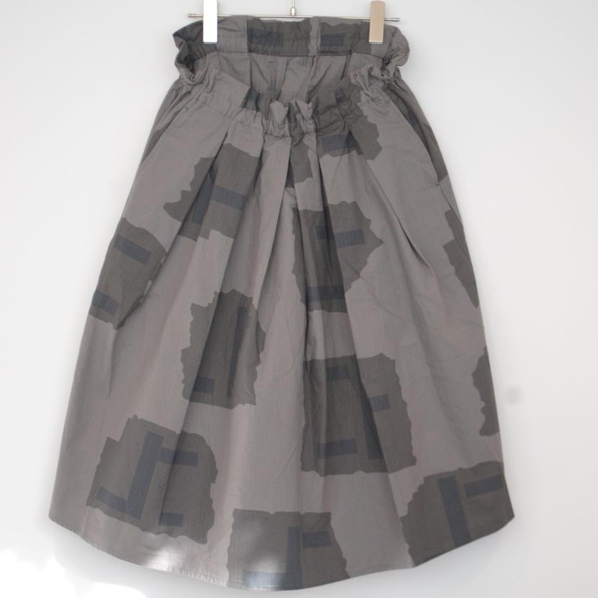 manual alphabet/lip stop balloon skirt(gray kamo)