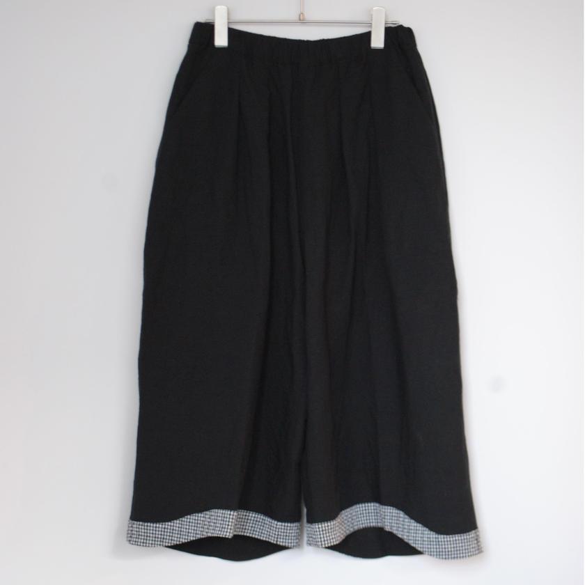 """rikolekt/""""linen"""" ラウンドパンツ(black)"""