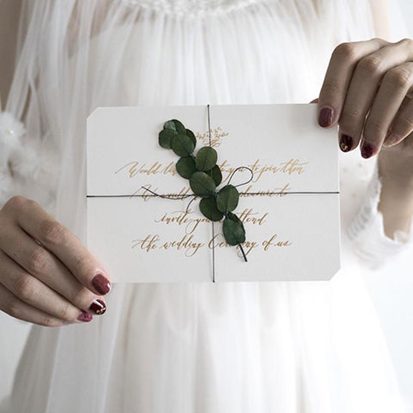 Wedding 活版印刷の招待状 { Ever Green } 30setから