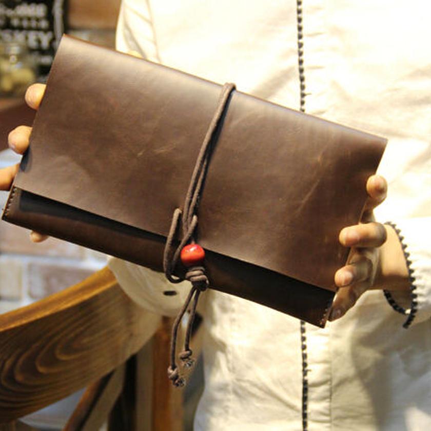男女兼用 シンプル手持ちクラッチバッグ 全2色 新品
