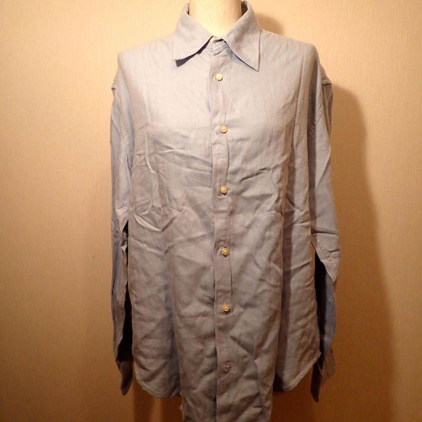 HADOU  USED  HERRINGBONE  SHIRT  シャツ