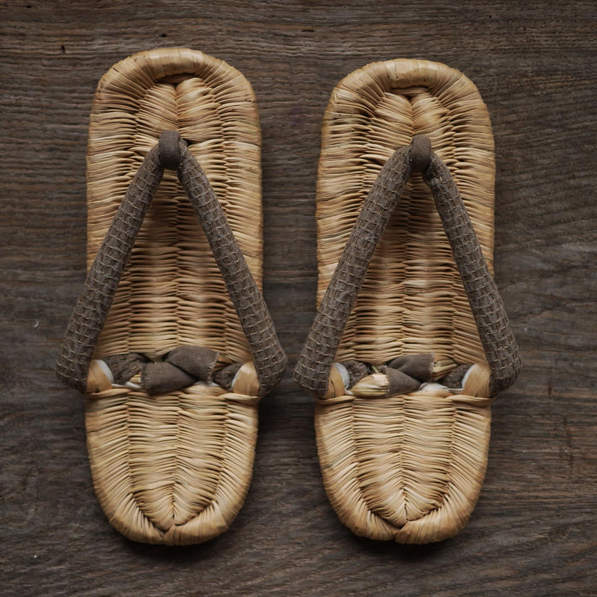 おえ草履(灰) Oe-zori sandals L