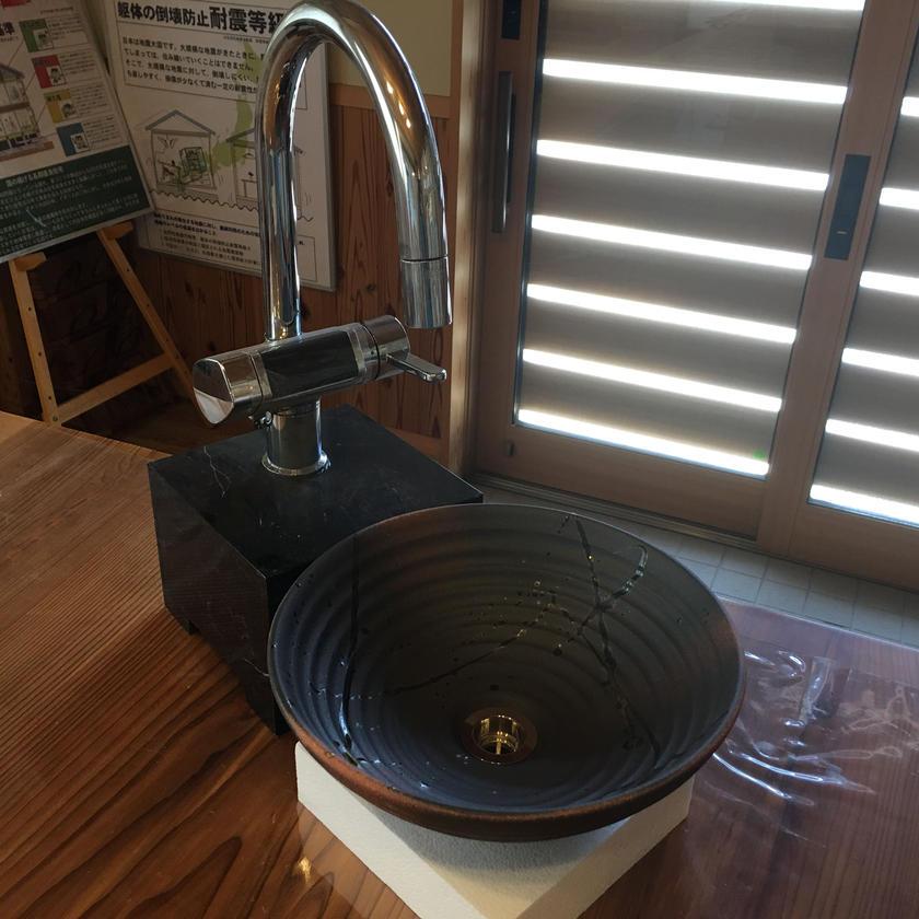信楽焼き 手洗い鉢 S-7