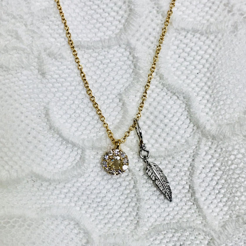 K18&K18WG/DIAMOND PENDANT