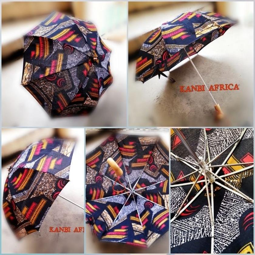 売約済みアフリカ布日傘