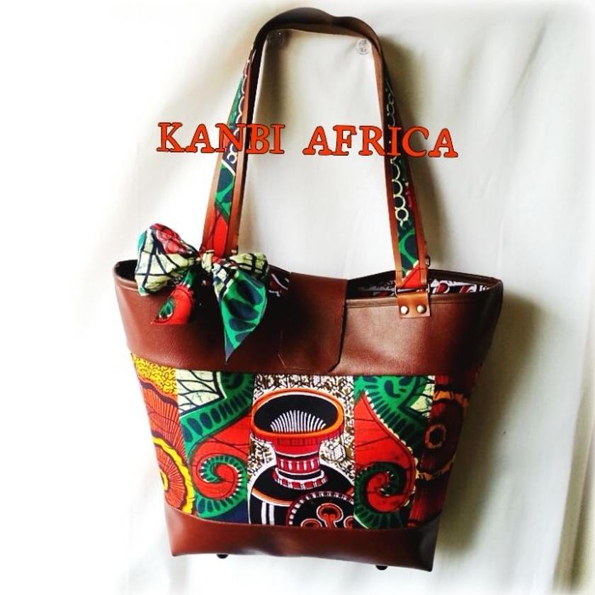 アフリカ布 stocker bag ♪
