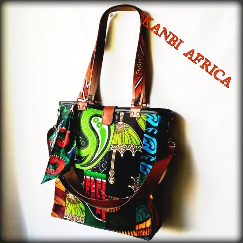 African  Cloth  Tote  bag♪