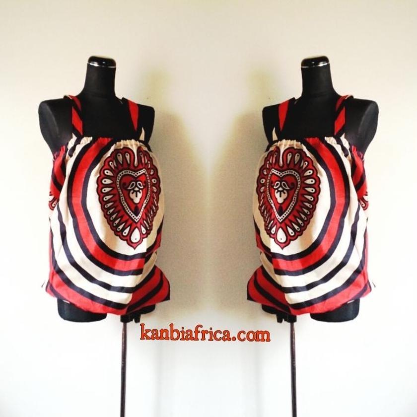 5 アフリカ布バルーンカットソー