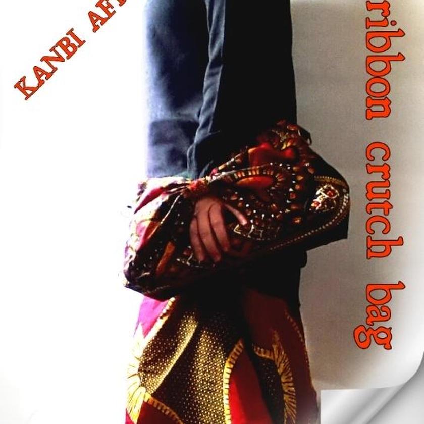 no4  アフリカ布ribbon crutch bag ♪