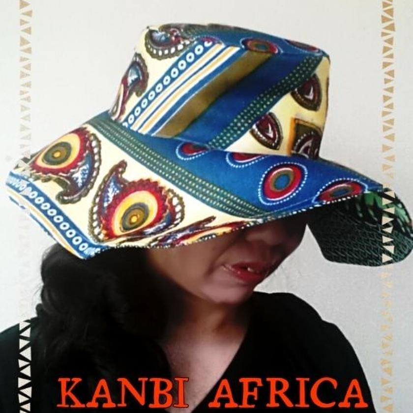 両面アフリカ布キャプリン♪