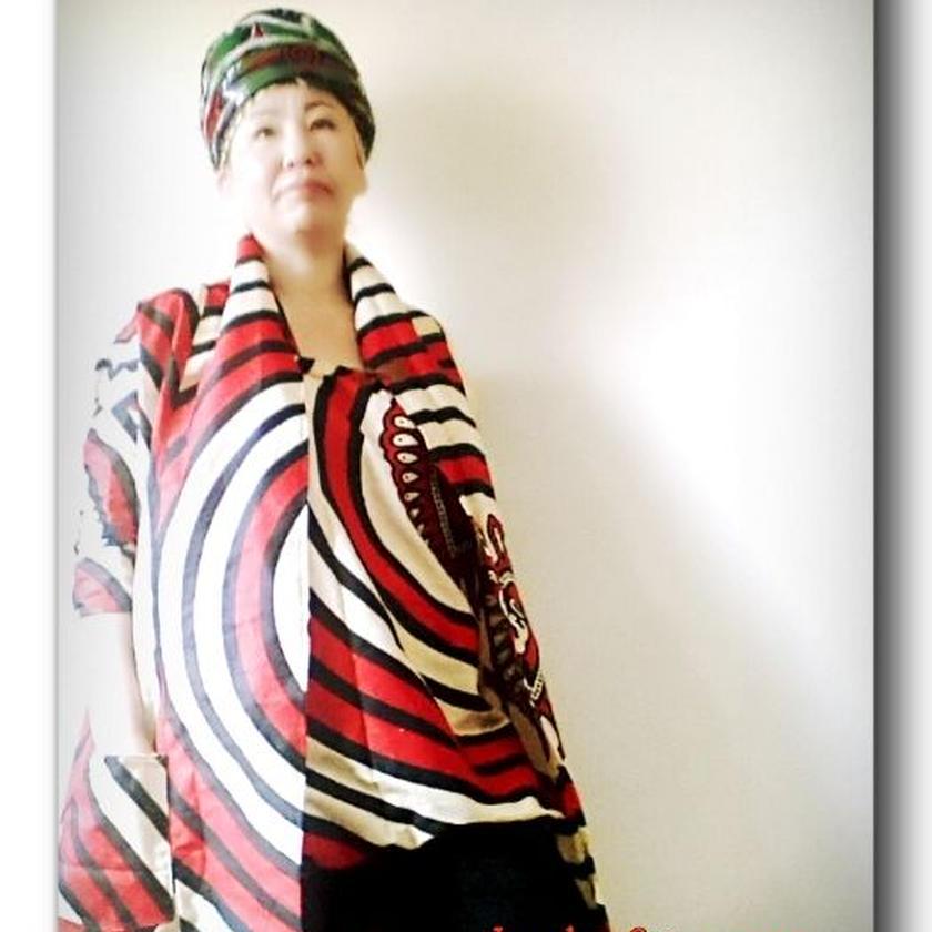 6 アフリカ布トレンチジャケット