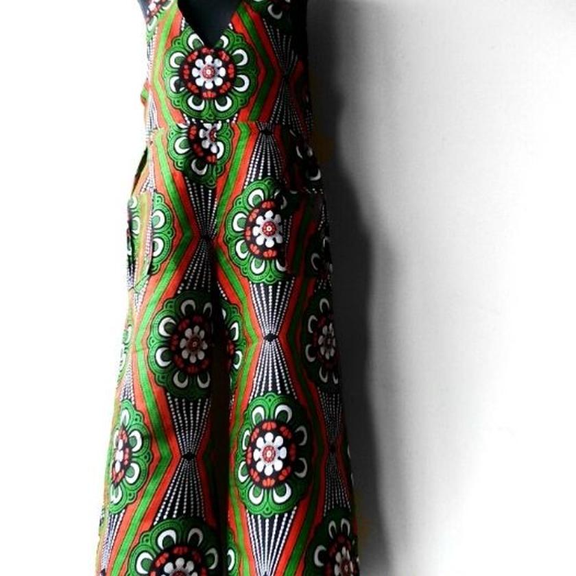 39   アフリカ布オールインワイドパンツ