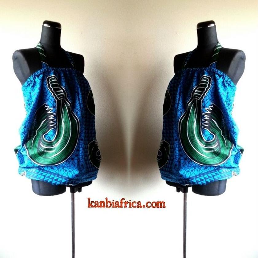 11 アフリカ布バルーンカットソー