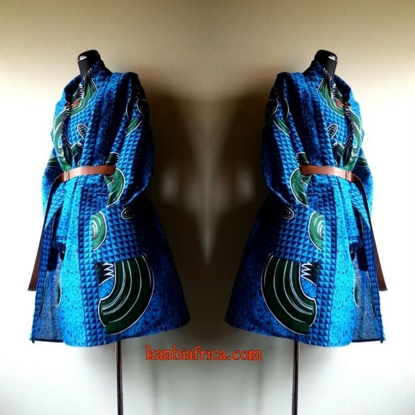 12 アフリカ布トレンチジャケット