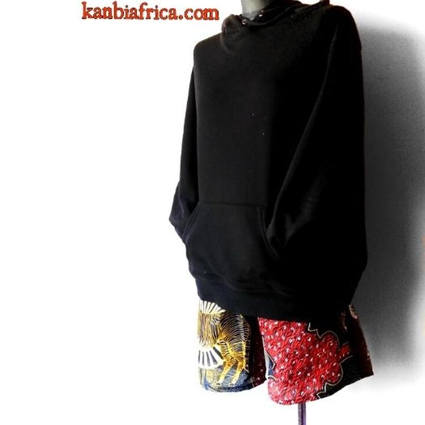 84  アフリカ布ホットパンツ