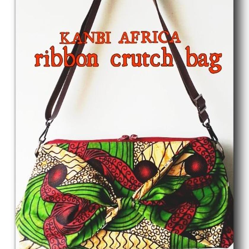 no7  アフリカ布ribbon crutchbag ♪