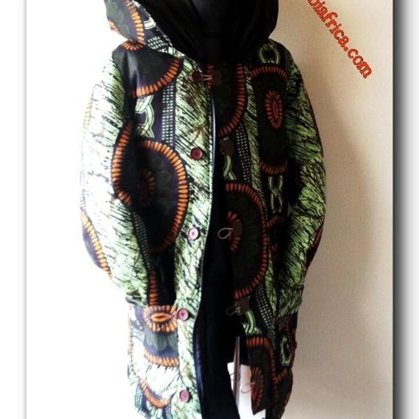 Mサイズ アフリカ布ダウンコート