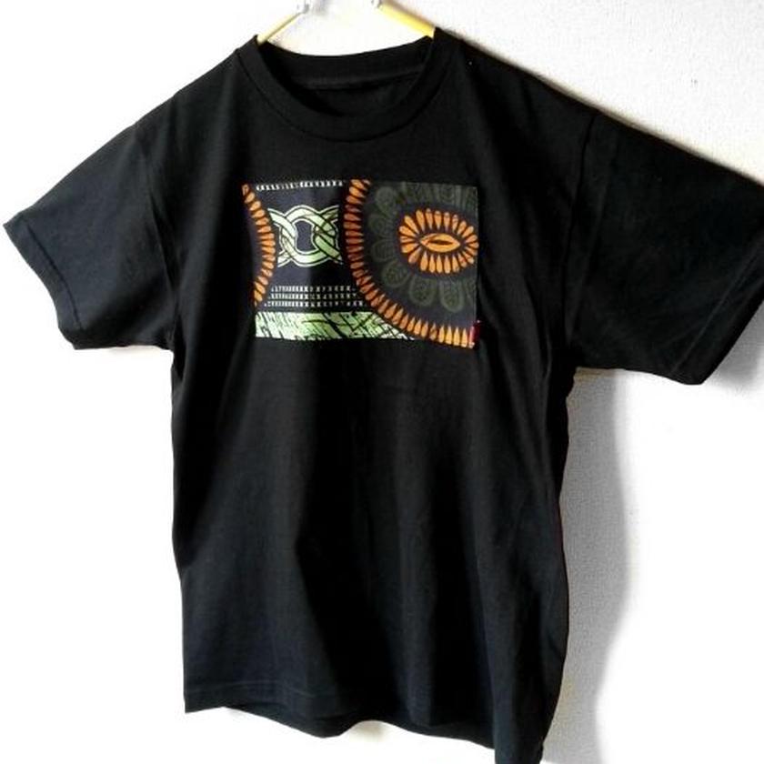 ~108 メンズM コットンtシャツアフリカン~