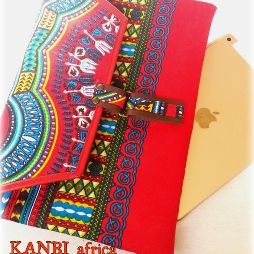 アフリカ布notePC タブレットclutch bag ♪