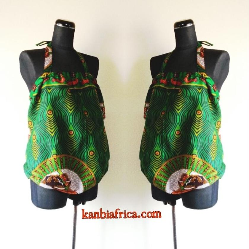 3 アフリカ布バルーンカットソー