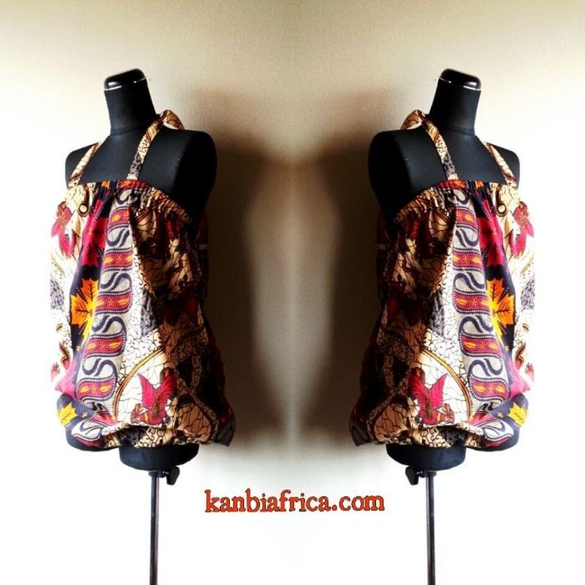 13 アフリカ布バルーンカットソー