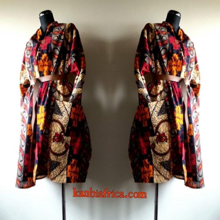 14 アフリカ布トレンチジャケット