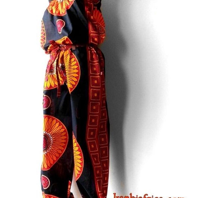 32   アフリカ布オールインワン