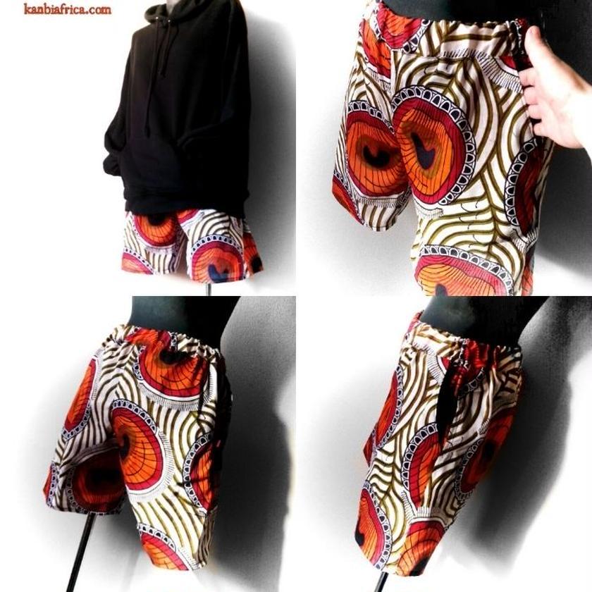 80   アフリカ布ホットパンツ