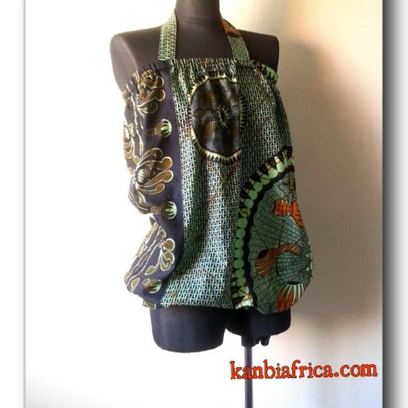1   アフリカ布 バルーンカットソー