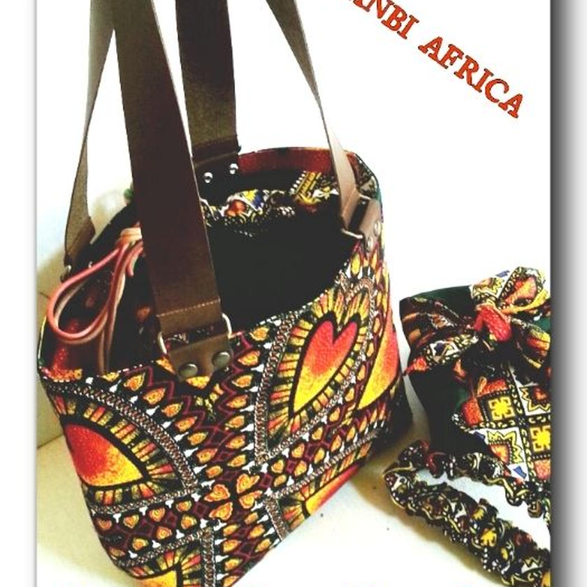 アフリカ布 Lunch  Tote   Bag   Set ♪