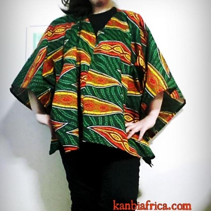 ⑤~アフリカ布カットソー~