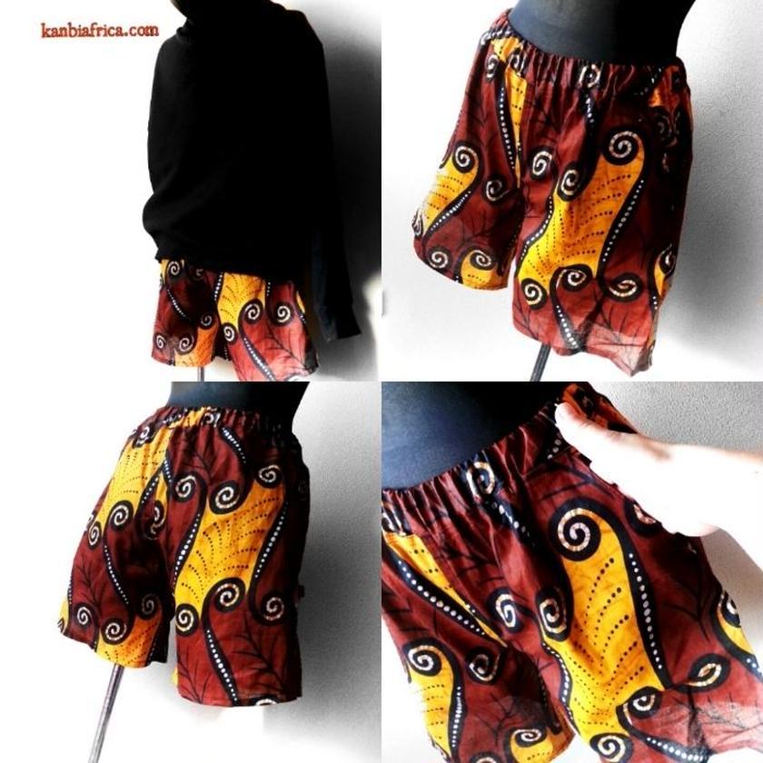 79  アフリカ布ホットパンツ
